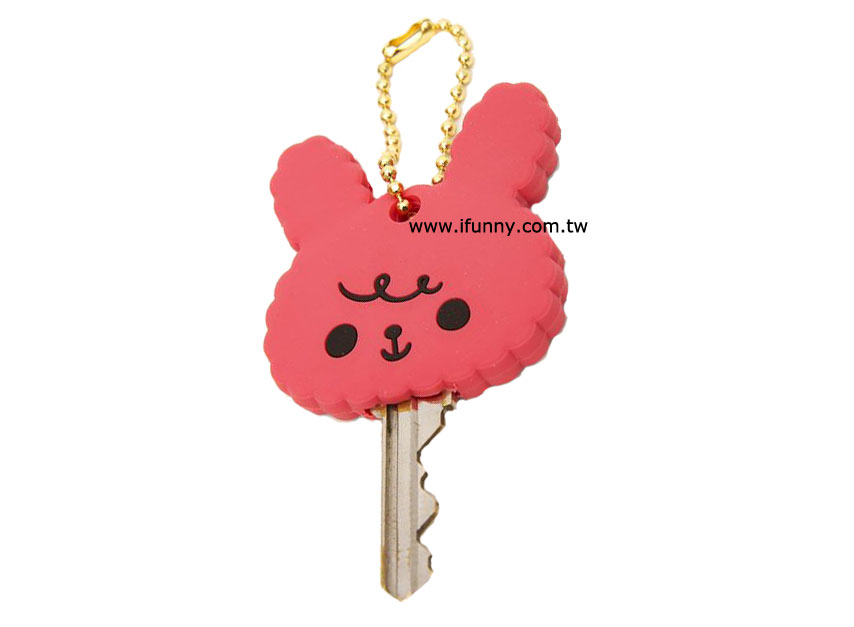 q版动物造型软胶钥匙套